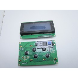 Display lcd 2004 20x4 retroilluminato blu + interfaccia seriale IIC I2C Arduino