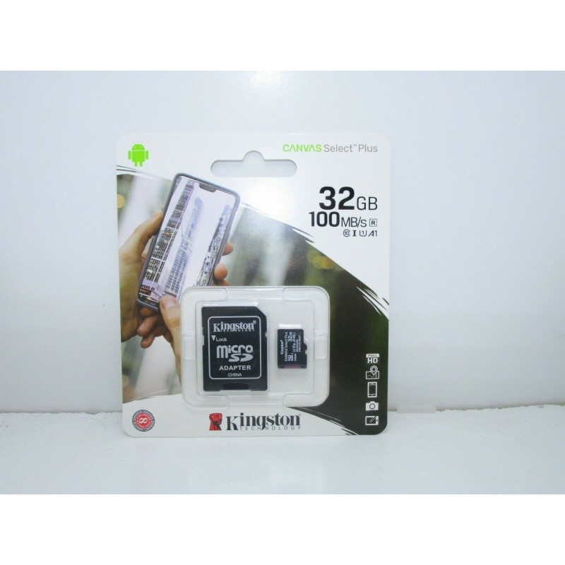 Micro SD 32gb memory card C10 SDCS2 100 MB/S Canvas Select Plus Kingston