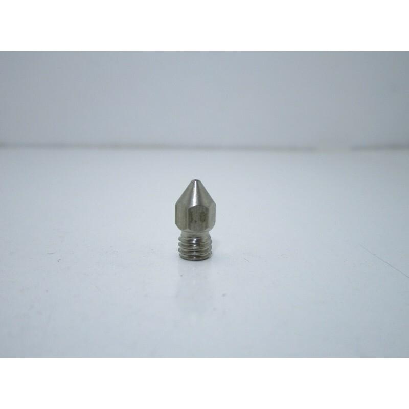 Ugello estrusore acciao inox 1,0mm m6 mk8 per filamento PLA 1,75MM stampante 3D
