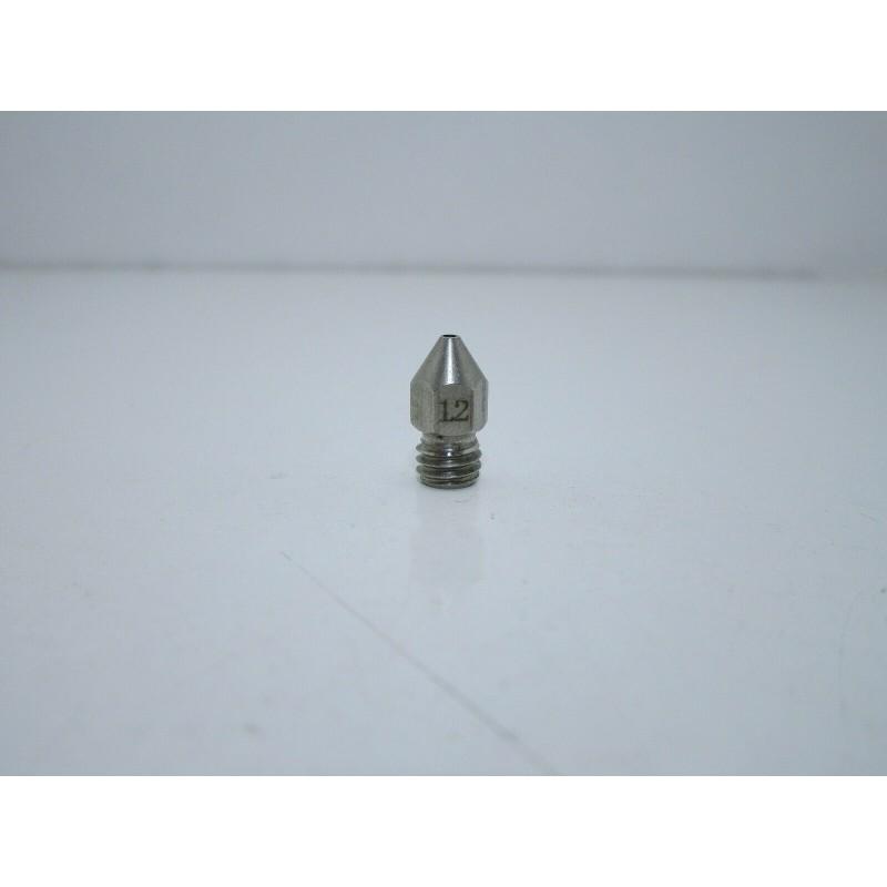 Ugello estrusore acciao inox 1,2mm m6 mk8 per filamento PLA 1,75MM stampante 3D