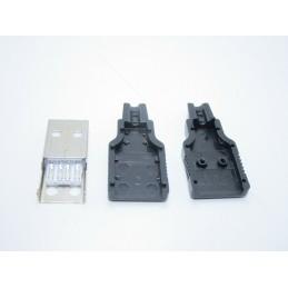 2 pz Kit porta usb 2.0 tipo A maschio 4 pin presa plug connettore per cavo