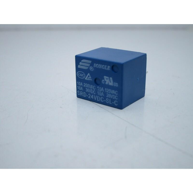 Relè relay songle 24v 10A 5 pin SRD-24VDC-SL-C SPDT da circuito stampato pcb